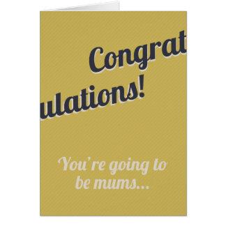 Nuevas momias felicitación