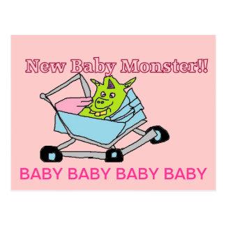 Nuevas postales del monstruo del bebé