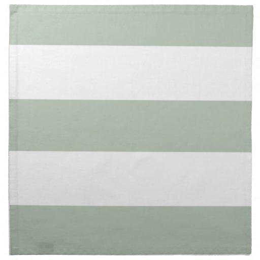 Nuevas servilletas del paño de la raya del verde y