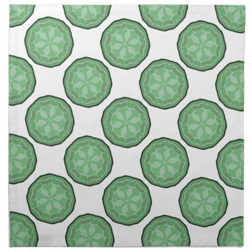 Nuevas servilletas del paño del verde y del blanco