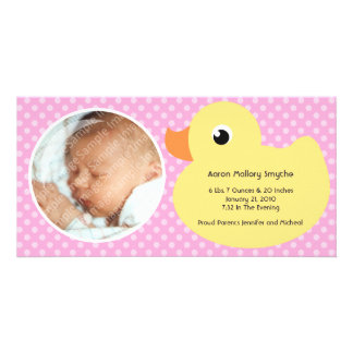 Nuevas tarjetas de la foto del bebé del marco tarjeta personal