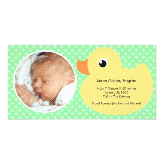 Nuevas tarjetas de la foto del bebé del marco tarjetas personales con fotos
