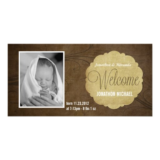 Nuevas tarjetas de la invitación del nacimiento de tarjeta fotográfica