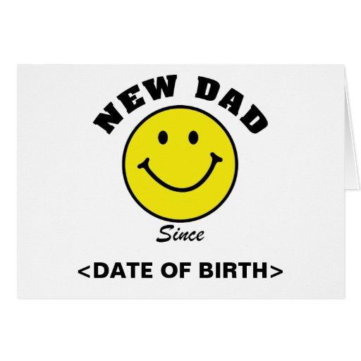 Nuevas tarjetas personalizadas del papá de la cara