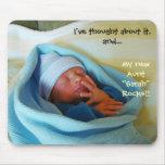 Nuevas tías del nacimiento del bebé del nuevo mous alfombrilla de raton