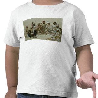 Nueve cortesanos y criados del Raja Camiseta