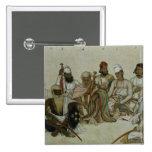 Nueve cortesanos y criados del Raja Pin Cuadrado