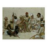 Nueve cortesanos y criados del Raja Postal