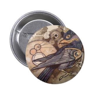 nueve cuervo del botón 3 del tatuaje del ojo pin redondo de 2 pulgadas