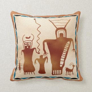 Nueve extranjeros del arte de la roca del barranco almohadas