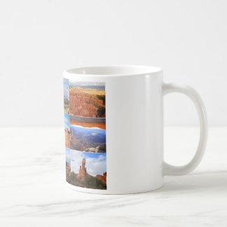 Nueve iconos del collage del paisaje de Utah Tazas De Café