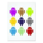"""Nueve insecto Droids (androide multicolor) Invitación 5"""" X 7"""""""