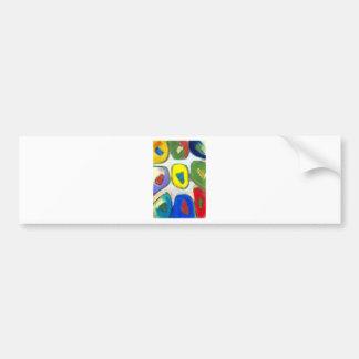 Nueve musas coloridas abstractas pegatina para auto