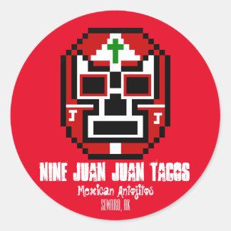 Nueve pegatinas del Tacos de Juan Juan Pegatina Redonda