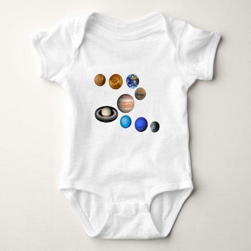 Nueve planetas en la Sistema Solar Body Para Bebé
