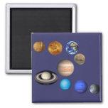 Nueve planetas en la Sistema Solar Imán Cuadrado