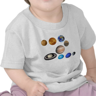 Nueve planetas en la Sistema Solar. Mercury, Camiseta