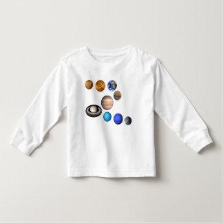 Nueve planetas en la Sistema Solar. Mercury, Playera De Manga Larga De Niño