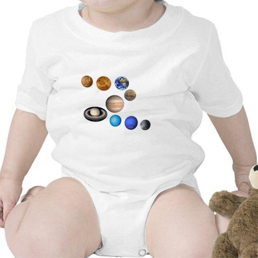 Nueve planetas en la Sistema Solar Traje De Bebé