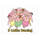 nueve señoras que bailan el noveno 9no día de navi postal