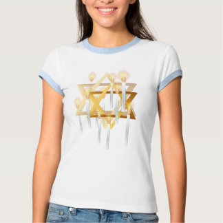Nueve velas blancas de camisetas remeras