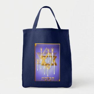 Nueve velas y bolsos blancos de la estrella bolsa tela para la compra