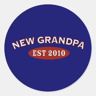 Nuevo abuelo 2010 pegatina redonda