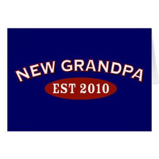 Nuevo abuelo 2010 tarjeta de felicitación