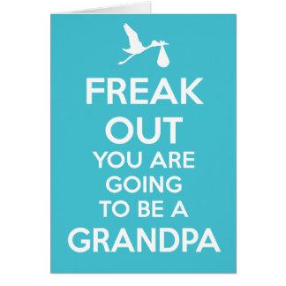 Nuevo abuelo a ser invitación del embarazo tarjeta de felicitación