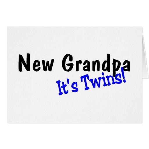 Nuevo abuelo de gemelos tarjetas