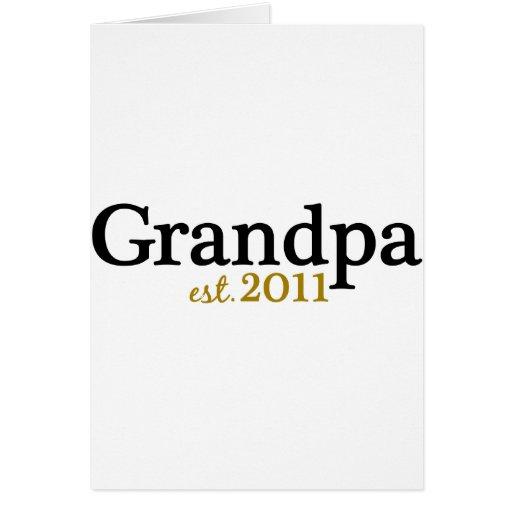 Nuevo abuelo est 2011 tarjeta de felicitación