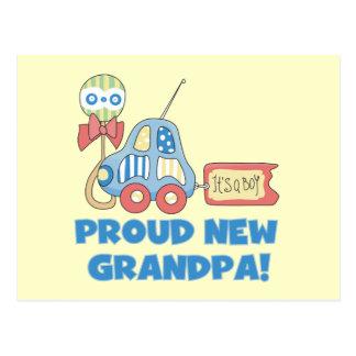 Nuevo abuelo orgulloso es camisetas y regalos de tarjetas postales