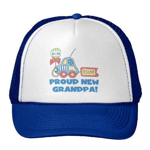 Nuevo abuelo orgulloso es camisetas y regalos de u gorro de camionero