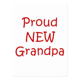 Nuevo abuelo orgulloso tarjetas postales