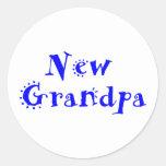 Nuevo abuelo pegatina redonda