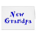 Nuevo abuelo tarjeta de felicitación