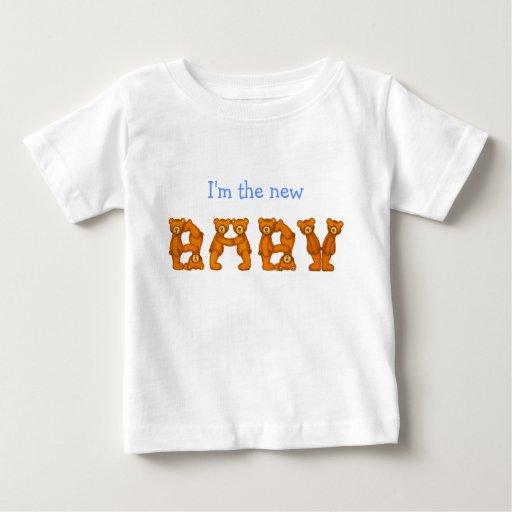 Nuevo alfabeto especial del oso de Baby~Beary Playera De Bebé