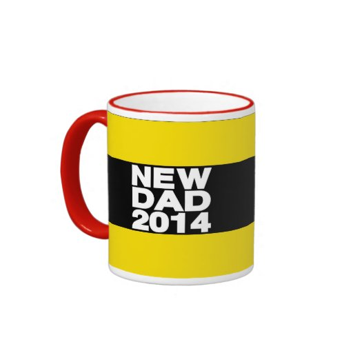 Nuevo amarillo 2014 de LG del papá Taza A Dos Colores