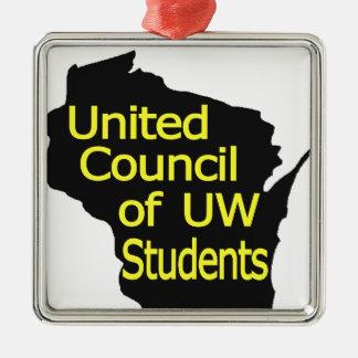 Nuevo amarillo unido del logotipo del consejo en adornos
