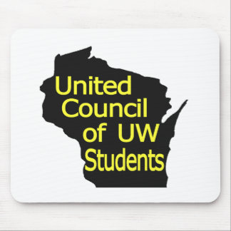 Nuevo amarillo unido del logotipo del consejo en n alfombrillas de raton