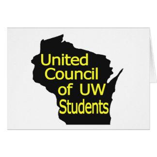 Nuevo amarillo unido del logotipo del consejo en n felicitación