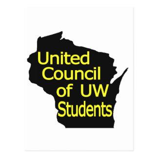 Nuevo amarillo unido del logotipo del consejo en postal