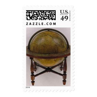 Nuevo americano globo terrestre de trece pulgadas sello