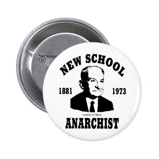 Nuevo anarquista  --  Ludwig von Mises Pin Redondo 5 Cm
