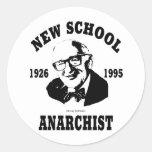Nuevo anarquista  --  Murray Rothbard Pegatina Redonda