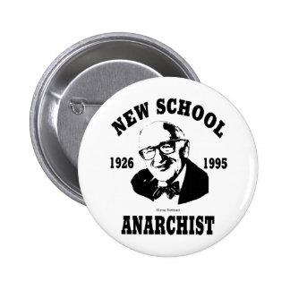 Nuevo anarquista  --  Murray Rothbard Pin Redondo De 2 Pulgadas