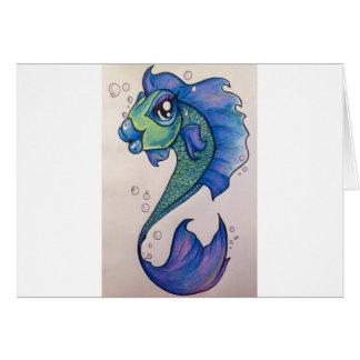 Nuevo ángel fishimage.jpg de la escuela tarjeta de felicitación
