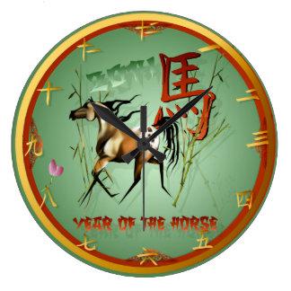 Nuevo Año-Año chino del caballo Reloj