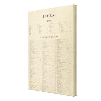 Nuevo atlas comercial del índice impresión en lona estirada