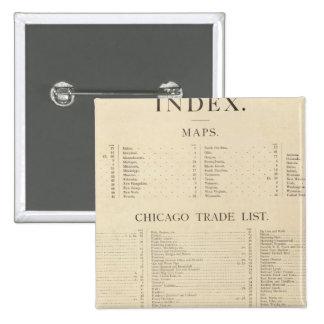 Nuevo atlas comercial del índice pin cuadrado